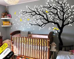 image is loading large tree wall decal baby nursery wall art  on wall art trees large with large tree wall decal baby nursery wall art mural wall tattoo decor