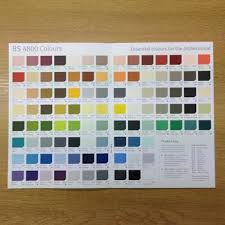 Vauxhall Colour Chart Johnstones Colour Chart Basic Colour Card