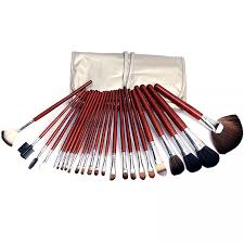 24 pieces 6 brush set with leather pouch