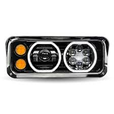 Trux Led Light Bar Reviews Trux Accessories 18in X 11in Universal Passengers Side Led Projector Semi Truck Headlight Model Number Tled H103