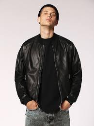 sel black leather jackets mens l pins