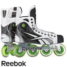 Reebok 9k White Pump Roller Hockey Skate Jr Andrew Wish