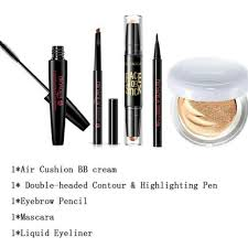 bioaqua makeup set bb cream eyebrow pencil maa eyeliner contour makeup kit