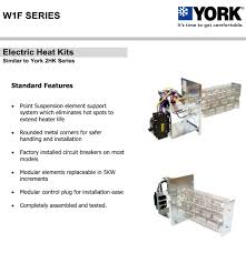 10 kw heat strip for york air handlers click for models w1f1002 replaces model 2hk
