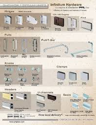 alluring commercial glass door hardware and shower door hardware and complete shower kits