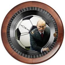 <b>Часы круглые из</b> дерева President Putin (football) #3167251 от ...