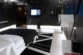 black and white bedroom awesome luxury decorating with triangle accent and tv with pc computer bedroom awesome black white bedrooms black