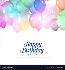 Colorful Happy Birthday Balloons Background