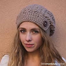 Slouch Hat Crochet Pattern Inspiration Rustic Slouch Hat Crochet Pattern Rustic Slouchy Hat Crochet Etsy