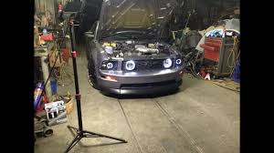 2006 Mustang Halo Lights 05 09 Mustang Halo Headlight Installation Youtube