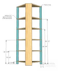 Do It Yourself Corner Shelves Cool How To Make A Corner Bookshelf 32 DIY Methods Guide Patterns