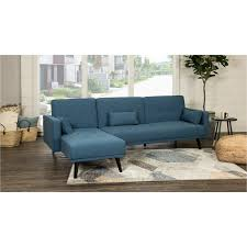 madrid ocean blue convertible sectional