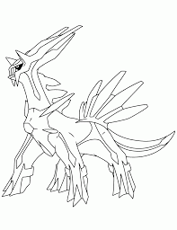 Small Picture Pokemon Coloring Pages Dialga Coloring Page