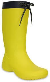 <b>Сапоги резиновые</b> женские <b>Crocs</b> Freesail, цвет: желтый. 203541 ...