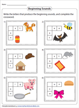 Free interactive exercises to practice online or download as pdf to print. Phonics Worksheets