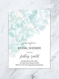 fl bridal diy printable invitation