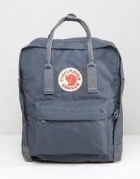 Темно-серый <b>рюкзак</b> объемом 16 литров Fjallraven Kanken | ASOS