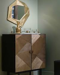 home bar furniture. Elegant Setting Featuring Handsome Art Deco Inspired Bar And Wall Mirror; Home Ideas; Furniture