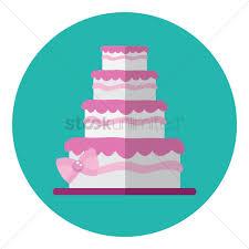 Wedding Cake Vector Image 1354952 Stockunlimited