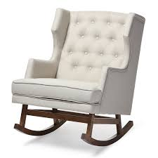 Rocking Chair Modern amazon baxton studio iona midcentury retro modern fabric 1310 by uwakikaiketsu.us