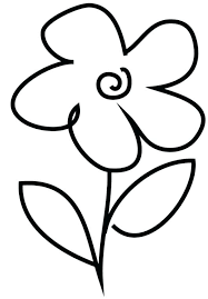 Easy Flower Coloring Pages 488websitedesigncom