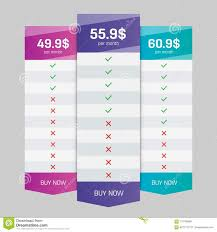 Creative Table Chart Creative Vector Illustration Of Business Plans Web
