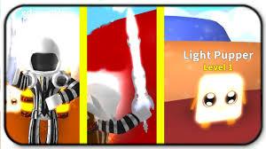 Roblox Mining Simulator Light Pack Light Pack Light Sword Light Pupper And Light Dominus Roblox Mining Simulator