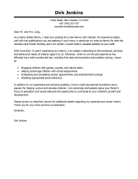 Nanny Cover Letter Samples Guamreview Com