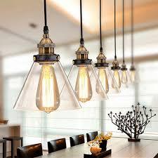 ingenious idea vintage kitchen lighting light unique retro fixtures ideas loft clear glass pendant design
