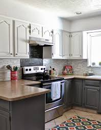 But, when i look at it on your wall compared to the other whites it looks kinda tan. Remodelaholic Grey And White Kitchen Makeover