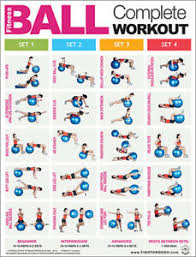 Details About Fitness Ball Complete Workout Professional Gym Instructional Wall Chart Poster