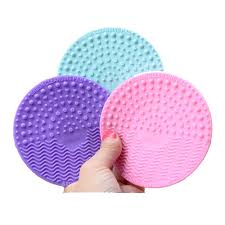 silicone makeup brush cleaner. 1pcs silicone makeup brush cleansing pad palette cleaner cleaning mat washing scrubber cosmetic make