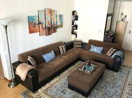 brown sectional living room verified customer review of moon brown sectional sofa by sunset dark brown