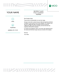 Creative Cover Letter Template Creative Cover Letter Designed By Moo