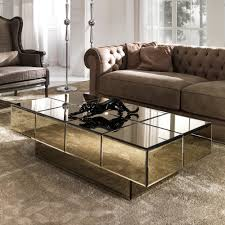 glass coffee table. Italian Designer Bronze Glass Storage Coffee Table