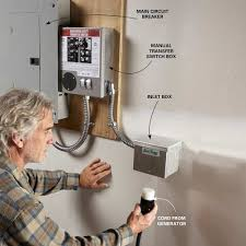 tips for using emergency generators pump extension cords and furnaces well pumps and electric water heaters require a transfer switch 16