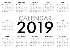 Calendar For 2019 Week Starts Monday Vector Premium Download