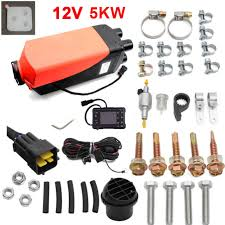 new 12v 5kw air diesel heater kit new convenient knob for cars trucks motor homes boats bus van