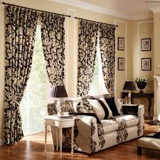 Leopard Decorative Balls Curtains For Living Room With Brown Furniture 100 Seats Sofa Brown 91