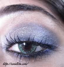 silvery grey blue y eye makeup