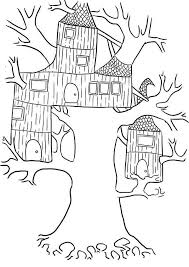 Small Picture Wierd Treehouse Coloring Page Wierd Treehouse Coloring Page