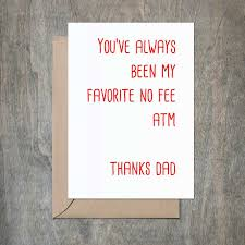Favorite Atm Dad Fathers Day Card Funny Fathers Day Card Funny