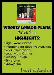 Weekly Homeschool Lesson Plan Week 2