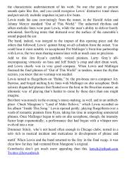 tribune review~~jazz showcase home page trumpeter bobby lewis makes strong comeback after surgery page 2