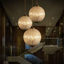 loft crystal pendant lighting american style crystal ball chandelier light
