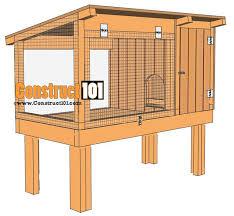 rabbit house plans. Rabbit Hutch Plans House H