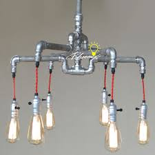 handmade lighting fixtures. Handmade Pipe And Edison Bulbs Chandelier 8823 : Free Ship! Browse Project  Lighting Modern Fixtures For Home Use, Ship! Handmade Lighting Fixtures -