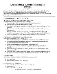 Accounting Cpa Resume Sample Resume Companion