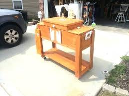 outdoor cooler cart on wheels outdoor cooler cart wood patio cooler plans home design ideas wooden outdoor cooler cart