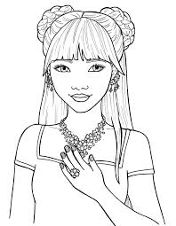 Pretty Girls Coloring Pages Free Feetjies Coloring Pages For